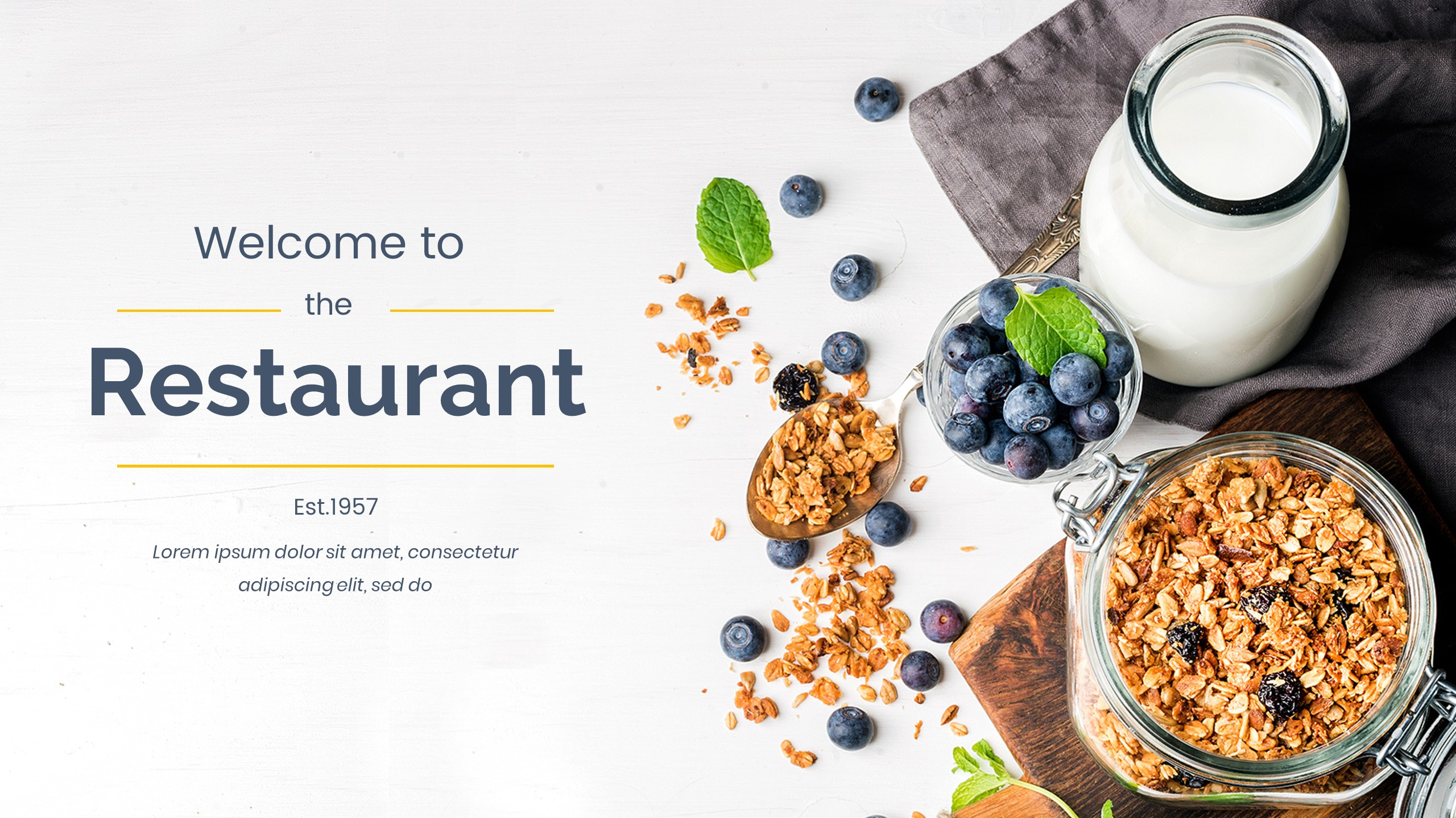 Bistro Food Powerpoint Template By Onepercent Graphicriver