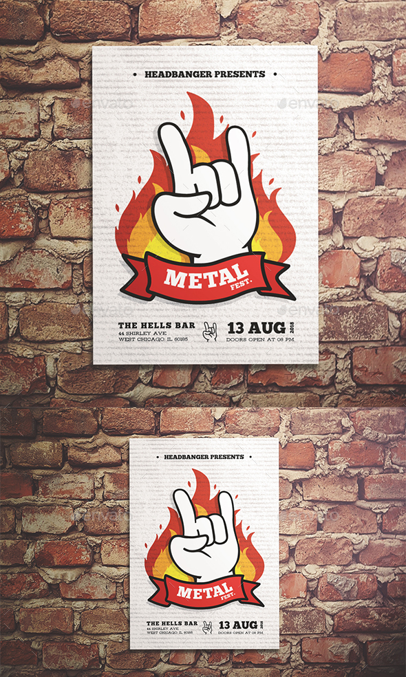 Rock Music Flyer - Concerts Events