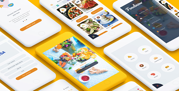 Foodnow - Sketch Food App - Sketch Templates