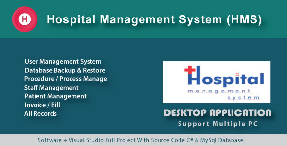 Simple Hospital Management System | Patient Manage | Procedure & Invoice - CodeCanyon Item for Sale