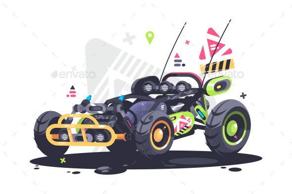 Racing Car Buggy - Objects Vectors