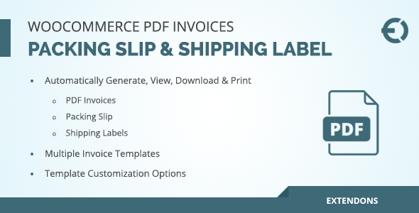Woocommerce pdf invoice packing slip shipping label by extendons woocommerce pdf invoice packing slip shipping label codecanyon item for sale maxwellsz
