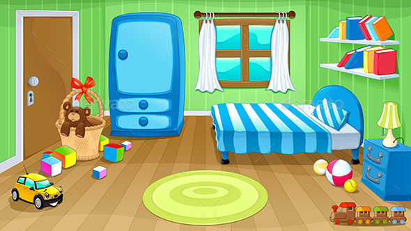 Bedroom with Toys - Buildings Objects