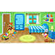 Bedroom with Toys - GraphicRiver Item for Sale