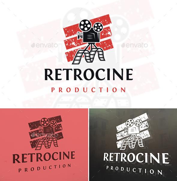 Old School Cinema Logo - Objects Logo Templates