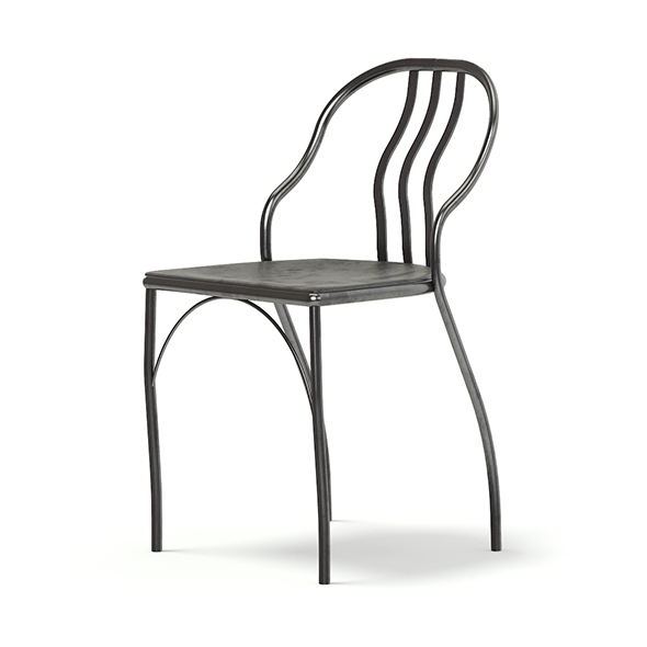 Black Metal Chair 3D Model - 3DOcean Item for Sale