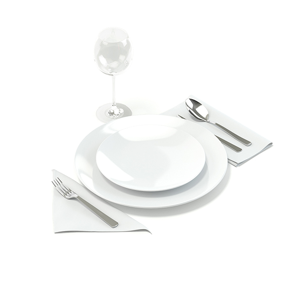 Tableware Set 3D Model - 3DOcean Item for Sale