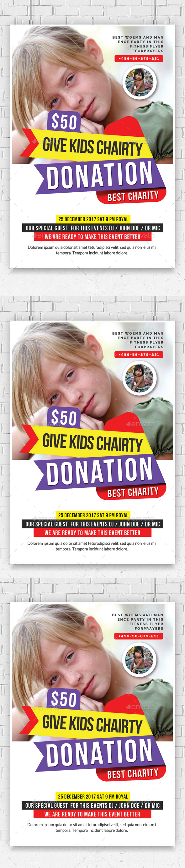 Kids Charity Flyer Template - Flyers Print Templates