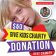 Kids Charity Flyer Template