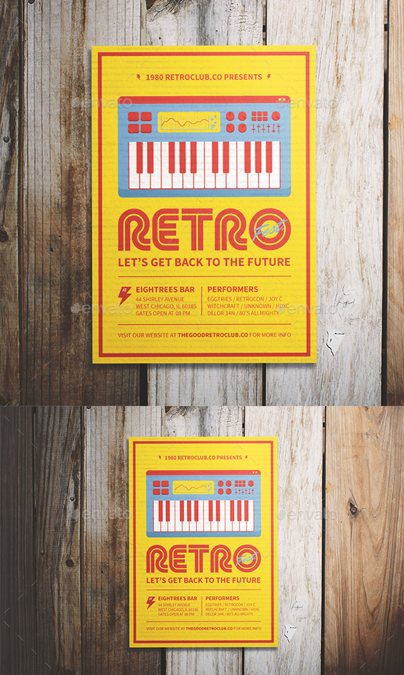 Retro Festival Flyer - Events Flyers