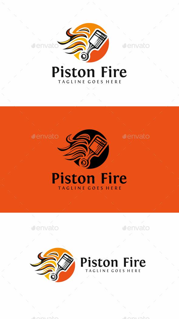 Piston Fire - Objects Logo Templates