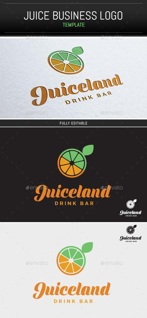 Juiceland Logo Template - Food Logo Templates