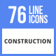 76 Construction Filled Line Icons - GraphicRiver Item for Sale