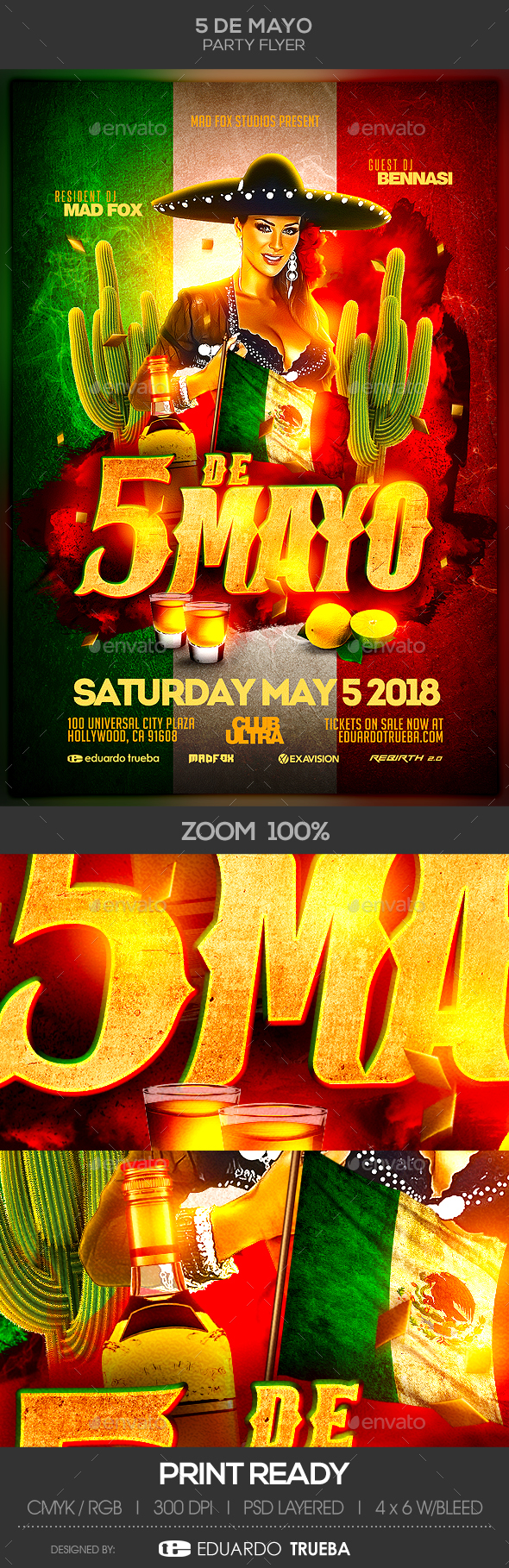 5 de Mayo Party Flyer - Clubs & Parties Events