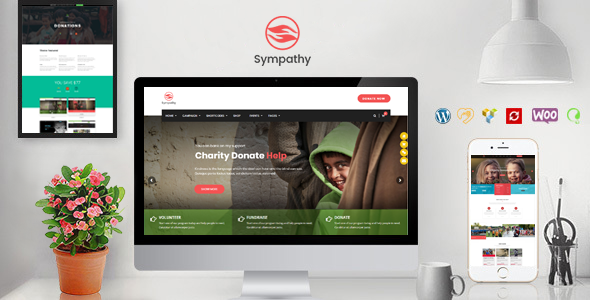 Sympathy | Charity WordPress Theme - Charity Nonprofit
