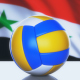 Volleyball Ball with Syria Flag
