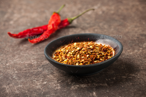 Red hot chili peppers on table - Stock Photo - Images