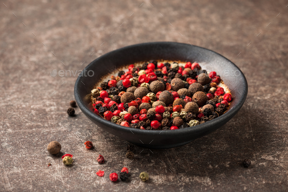 Mixed hot peppers in a bowl - Stock Photo - Images