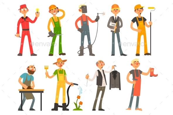 People of Different Professions and Occupations - People Characters