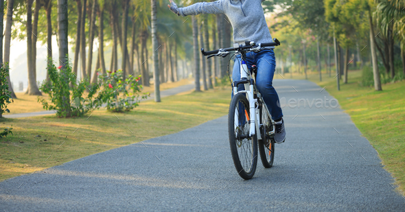 Riding Free at park - Stock Photo - Images