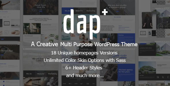 Dap - Creative MultiPurpose WordPress Theme - Creative WordPress