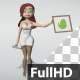 Cartoon Nurse Shows A Sign - VideoHive Item for Sale