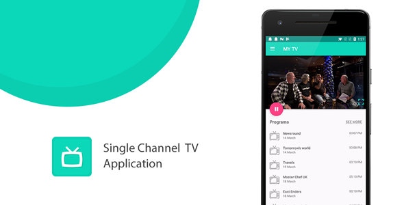 Single Channel TV Application with IP TV and YouTube compatibility - CodeCanyon Item for Sale