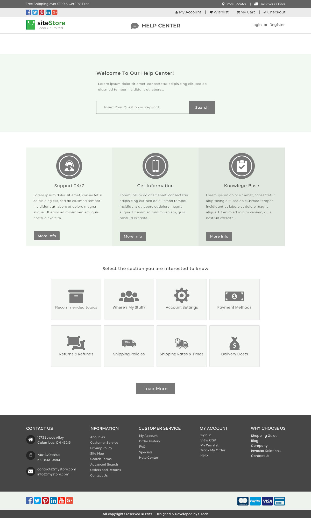 An E Commerce Template For Cloth Store By Mozahed525 Themeforest