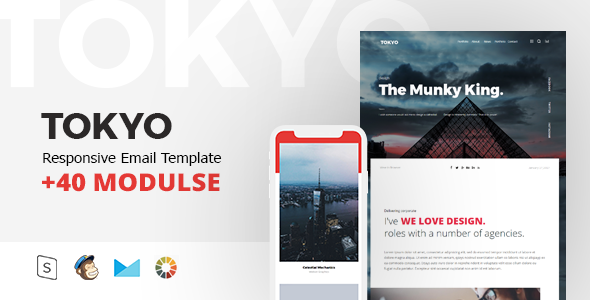 TOKYO Mail - Responsive Email Template Minimal - Email Templates Marketing