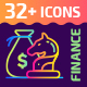 32+ Business and Finance Outline Icons - GraphicRiver Item for Sale