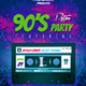 Modern Retro Party Flyer - GraphicRiver Item for Sale