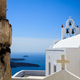 White church in Santorini, Greece - PhotoDune Item for Sale