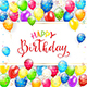 Text Happy Birthday with Balloons and Streamers - GraphicRiver Item for Sale