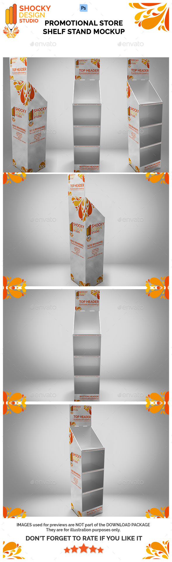 Promotional Store Shelf Stand Mockup - Miscellaneous Displays