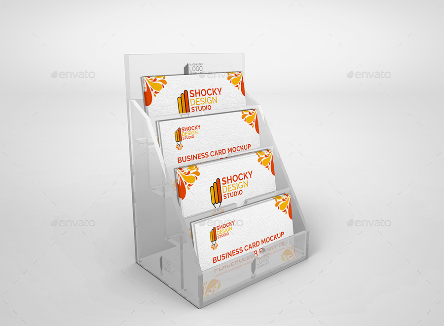 Business Card Holder Mockup Set by shockydesign | GraphicRiver