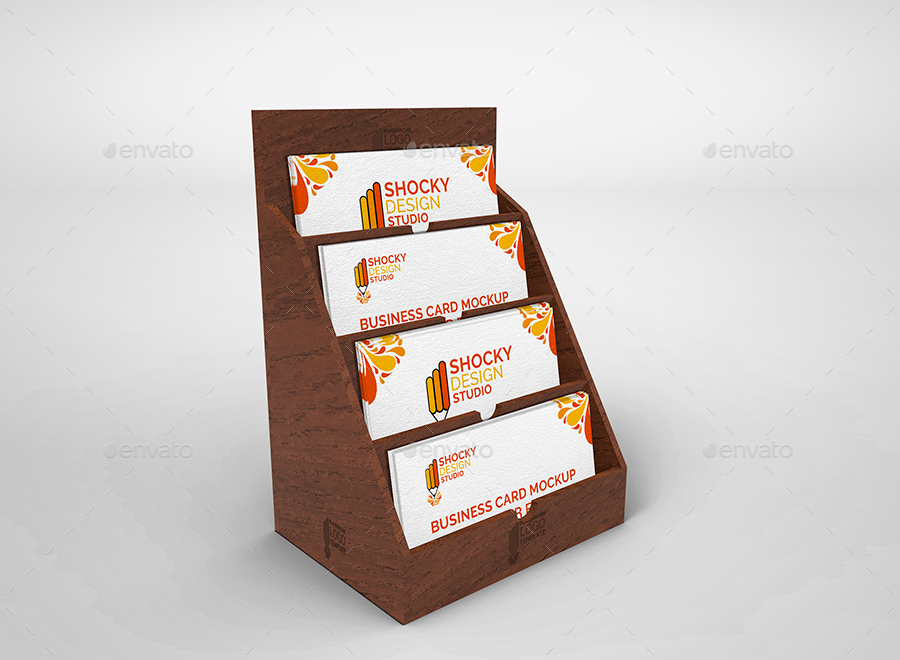 Business Card Holder Mockup Set by shockydesign   GraphicRiver
