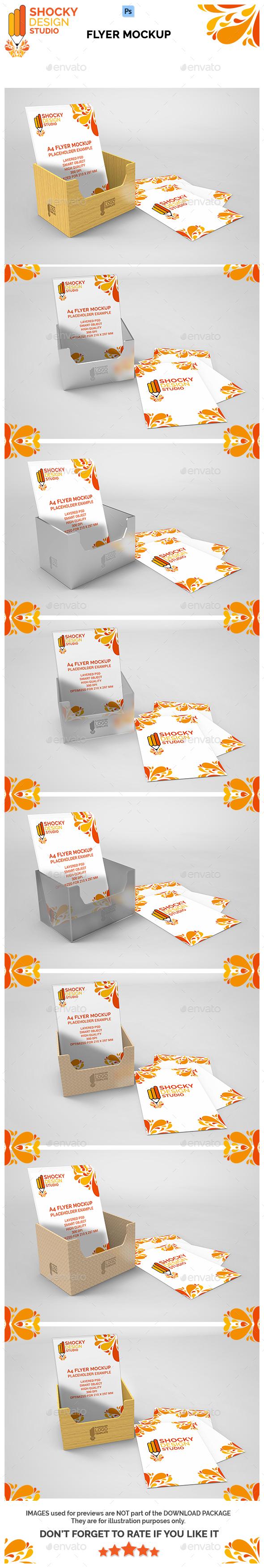 Flyer Mockup Set - Flyers Print