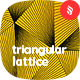Wavy Triangular Lattice Seamless Patterns / Backgrounds