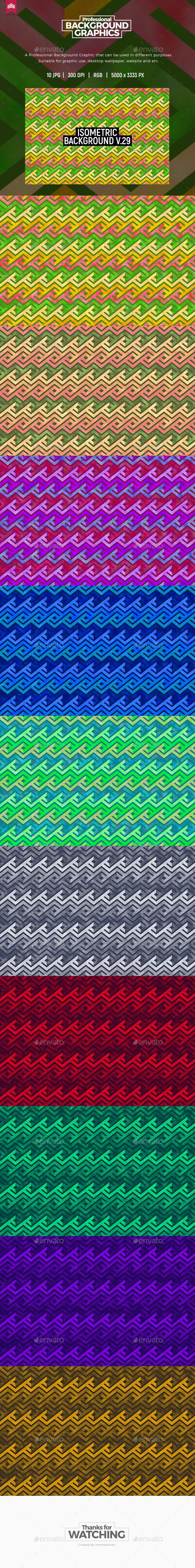 Isometric Background V.29 - Patterns Backgrounds
