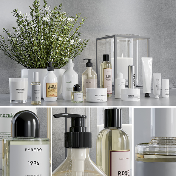 Bathroom accessories 6 - 3DOcean Item for Sale