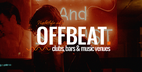 Offbeat – A Dimly Lit Nightlife & Music Theme