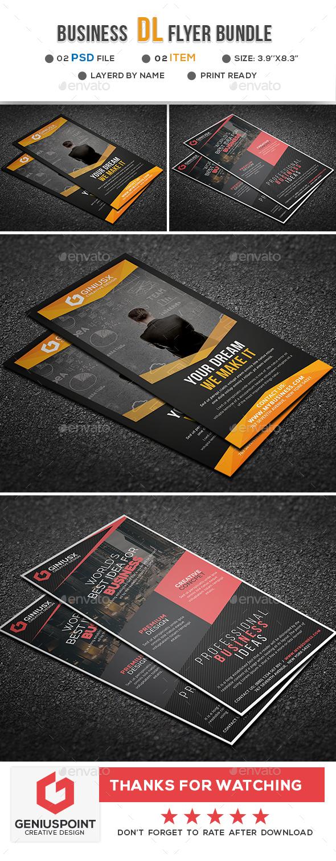 Business DL Flyer Bundle - Flyers Print Templates