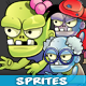 6 Zombies Game Sprites Set - GraphicRiver Item for Sale