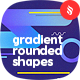 Bright Gradient Rounded Shapes Backgrounds - GraphicRiver Item for Sale