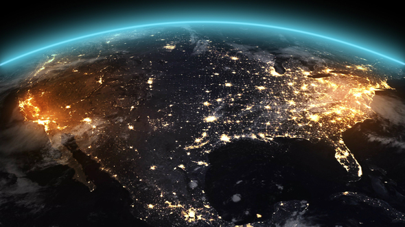 4k Earth Night North America By Footager Videohive