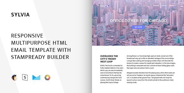 Sylvia – Responsive Email + StampReady Builder & Mailchimp Editor - Email Templates Marketing