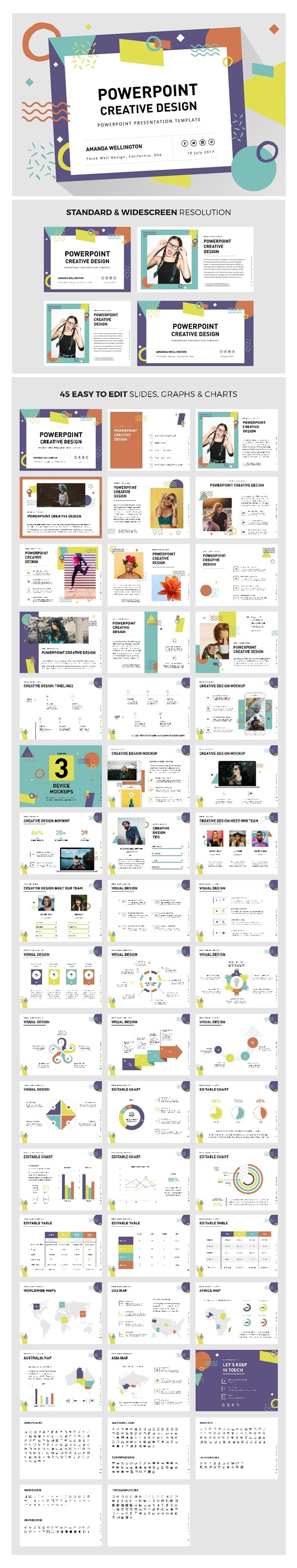 PowerPoint Creative Design Template - Creative PowerPoint Templates