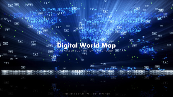 Videohive Digital World Map 11638831