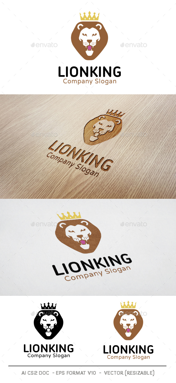 Lion King Logo - Animals Logo Templates