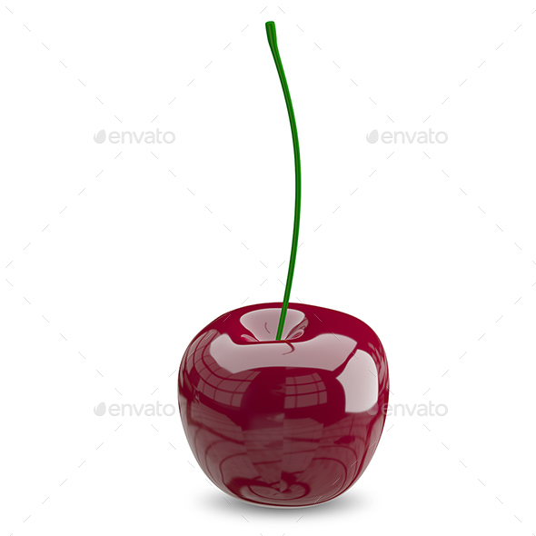 3D Illustration of a Ripe Cherry - Objects 3D Renders